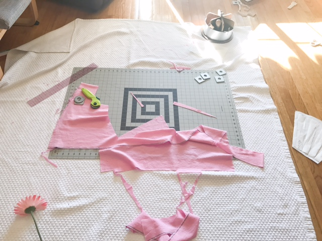 Cutting Fabric for Handmade Pinafore Birthday Dress - Lovemade Handmade
